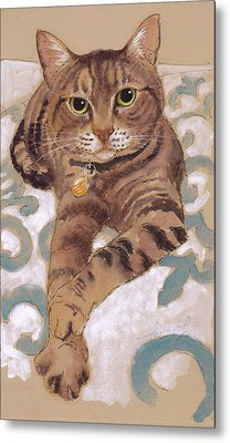 The Smooth-talkin' Cat Metal Print by Tracie Thompson