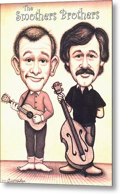 The Smothers Brothers Metal Print by Cristophers Dream Artistry