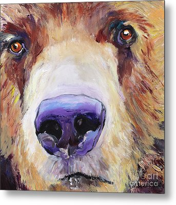 The Sniffer Metal Print by Pat Saunders-White