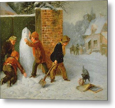 The Snowman Metal Print by Edward Charles Barnes