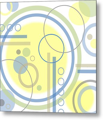 The Softness Of Circles Metal Print