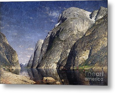 The Sognefjord, Norway, 1885 Metal Print by Adelsteen Normann