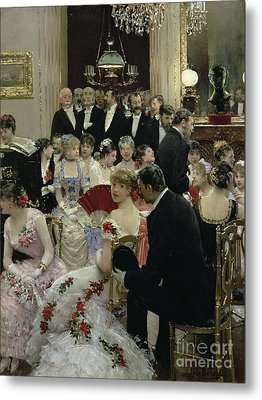 The Soiree Metal Print by Jean Beraud