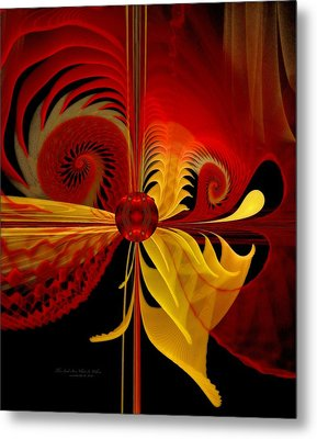 The Soul Sees What Is Within Metal Print by Gayle Odsather