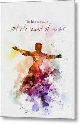 The Sound Of Music Metal Print by Rebecca Jenkins