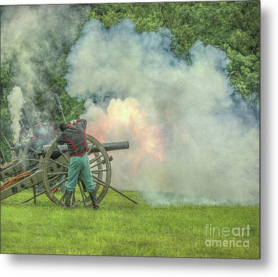 The Sound Of The Cannon Metal Print by Randy Steele