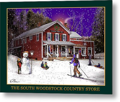 The South Woodstock Country Store Metal Print by Nancy Griswold