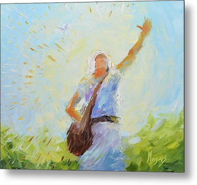 The Sower Metal Print by Mike Moyers