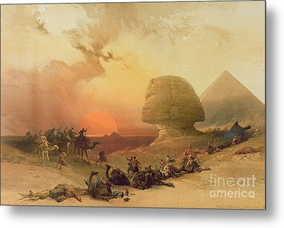 The Sphinx At Giza Metal Print by David Roberts
