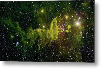 Metal Print featuring the photograph The Spider And The Fly Nebula by NASA JPL - Caltech
