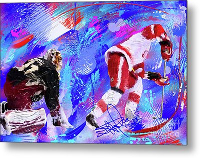 The Spin Todd Bertuzzi Metal Print by Donald Pavlica