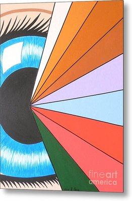 The Spiritual Eye Metal Print by Teresa St George