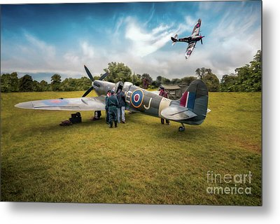 The Spitfire Parade Metal Print by Adrian Evans