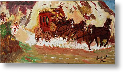 The Stagecoach Metal Print