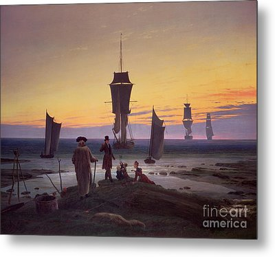 The Stages Of Life Metal Print by Caspar David Friedrich