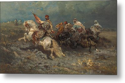 The Stampede Metal Print by Adolf Schreyer