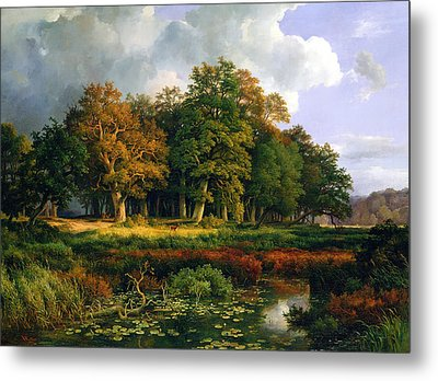 The Stangenmuhlengrund In Sachsenwald Metal Print by Adolf Vollmer