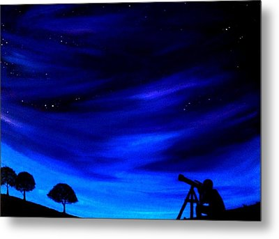 The Star Gazer Metal Print