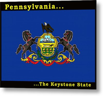 The State Flag Of Pennsylvania Metal Print