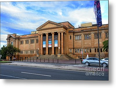 Metal Print featuring the photograph The State Library Of New South Wales By Kaye Menner by Kaye Menner