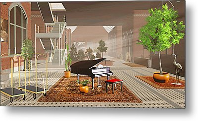 The Station Metal Print by Peter J Sucy