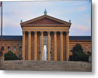 The Steps Of The Philadelphia Museum Of Art Metal Print by Bill Cannon