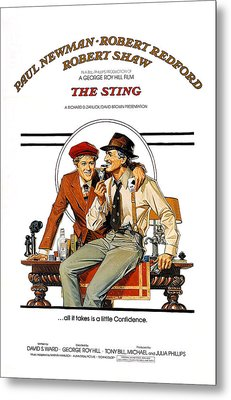 The Sting, The, Robert Redford, Paul Metal Print