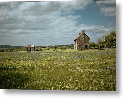 Metal Print featuring the photograph The Stone House by Linda Unger