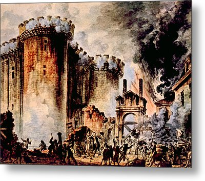 The Storming Of The Bastille, Paris Metal Print by Everett