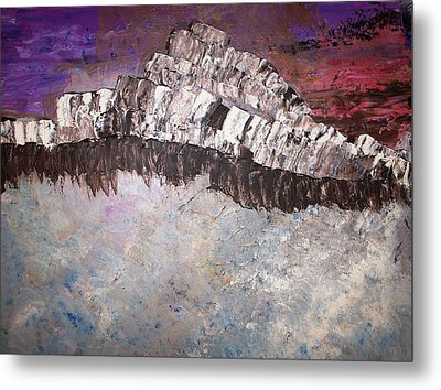 The Stormy Sea Shore Metal Print by Roy Penny
