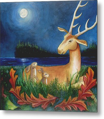 Metal Print featuring the painting The Story Keeper by Terry Webb Harshman