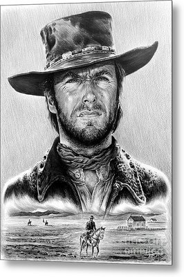 The Stranger Bw 1 Version Metal Print by Andrew Read