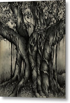 The Strangler Metal Print by Rachel Christine Nowicki