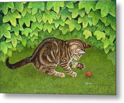 The Strawberry Kitten Metal Print
