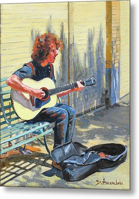 The Street Guitarist Metal Print by Dominique Amendola