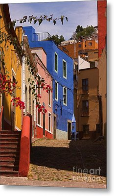 The Streets Of Guanajuato Metal Print by Nicola Fiscarelli