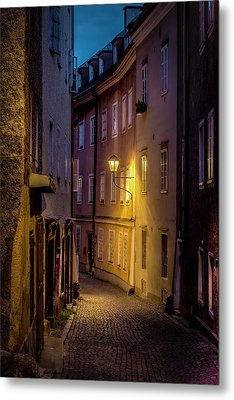 Metal Print featuring the photograph The Streets Of Salzburg by David Morefield