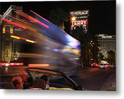 The Strip At Night 4 Metal Print by Don MacCarthy