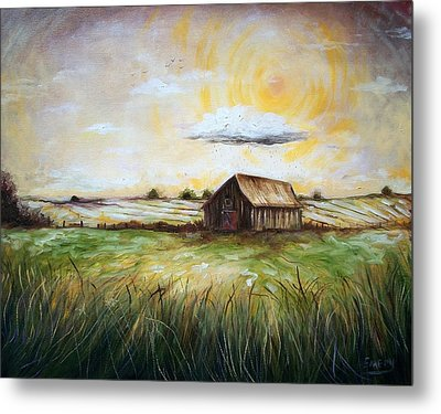 The Sun  Metal Print by Emery Franklin