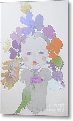 The Sun Flower Child Fairy Metal Print by Iordache Alice