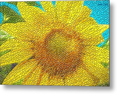 The Sunflower - Pa Metal Print by Leonardo Digenio