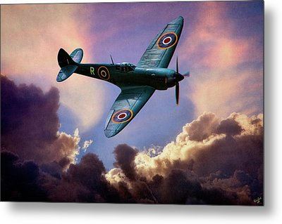 The Supermarine Spitfire Metal Print