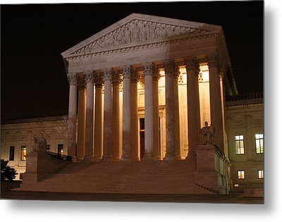 The Supreme Court Building At Night Metal Print by Brian M Lumley