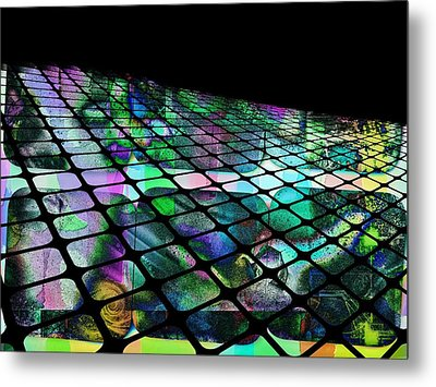 The Surface Of Color Metal Print by Contemporary Art