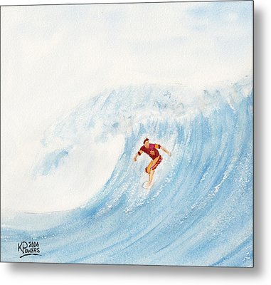 The Surfer Metal Print by Ken Powers