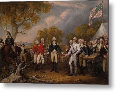 The Surrender Of General Burgoyne At Saratoga Metal Print