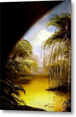 Metal Print featuring the painting The Swamp by Michael McKenzie