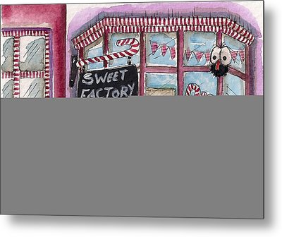 The Sweet Factory Metal Print by Lucia Stewart