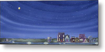 Metal Print featuring the painting The Sweetest Little Town In The Prairie II by Scott Kirby