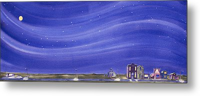 Metal Print featuring the painting The Sweetest Little Town In The Prairie IIi by Scott Kirby